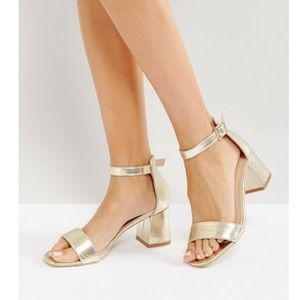 Never Worn ASOS Gold Block Heel